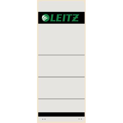 LEITZ Ordnerrücken-Etikett, 61 x 157 mm, kurz, breit, grau
