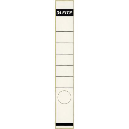 LEITZ Ordnerrücken-Etikett, 39 x 285 mm, lang, schmal, weiß