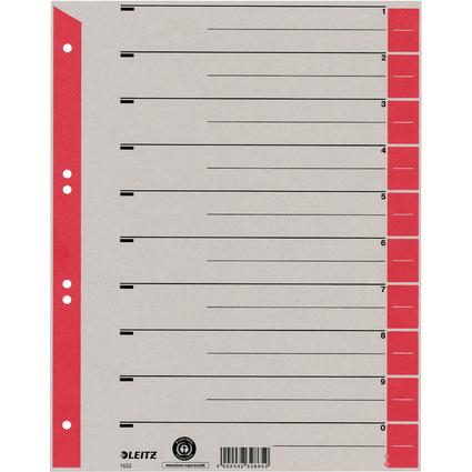 LEITZ Trennblätter, A4 Überbreite, Kraftkarton 230g/qm, rot