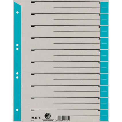LEITZ Trennblätter, A4 Überbreite, Kraftkarton 230g/qm, blau
