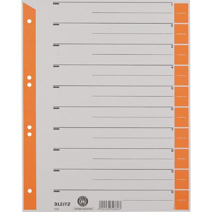 LEITZ Trennblätter, A4 Überbreite, Kraftkarton 230g/qm