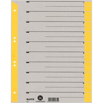 LEITZ Trennblätter, DIN A4, Karton grau 230 g/qm