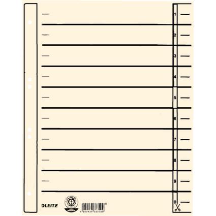 LEITZ Trennblätter, A4 Überbreite, Kraftkarton 200 g/qm