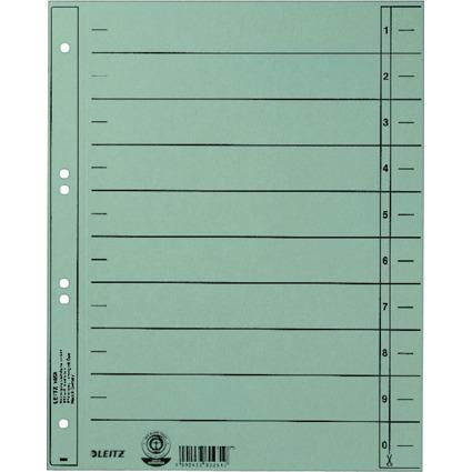 LEITZ Trennblätter, A4 Überbreite, Manilakarton 230g/qm,blau