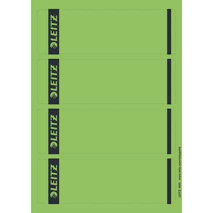 LEITZ Ordnerrücken-Etikett, 61 x 192 mm, kurz, breit, grün