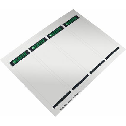 LEITZ Ordnerrücken-Etikett, 61 x 192 mm, kurz, breit, grau
