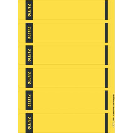 LEITZ Ordnerrücken-Etikett, 39 x 192 mm, kurz, schmal, gelb