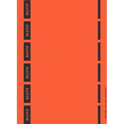 LEITZ Ordnerrücken-Etikett, 39 x 192 mm, kurz, schmal, rot
