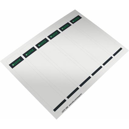 LEITZ Ordnerrücken-Etikett, 39 x 192 mm, kurz, schmal, grau