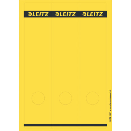 LEITZ Ordnerrücken-Etikett, 61 x 285 mm, lang, breit, gelb