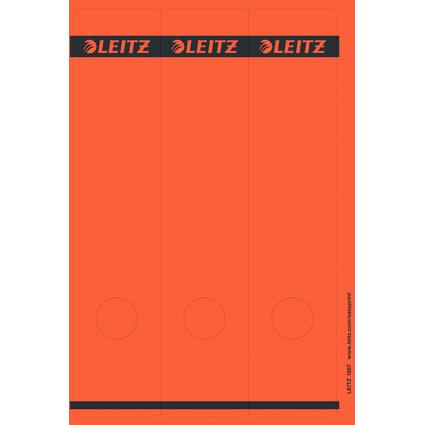 LEITZ Ordnerrücken-Etikett, 61 x 285 mm, lang, breit, rot