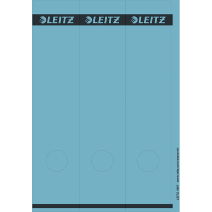 LEITZ Ordnerrücken-Etikett, 61 x 285 mm, lang, breit, blau