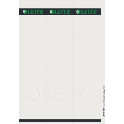 LEITZ Ordnerrücken-Etikett, 61 x 285 mm, lang, breit, grau
