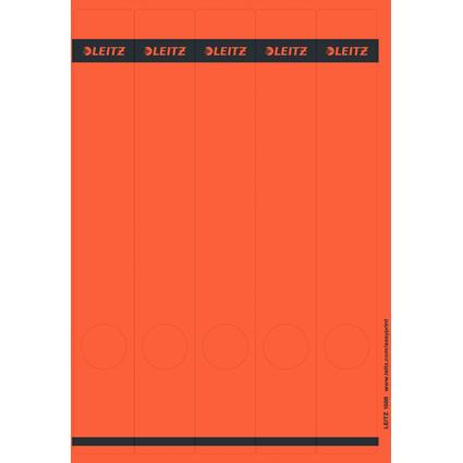 LEITZ Ordnerrücken-Etikett, 39 x 285 mm, lang, schmal, rot
