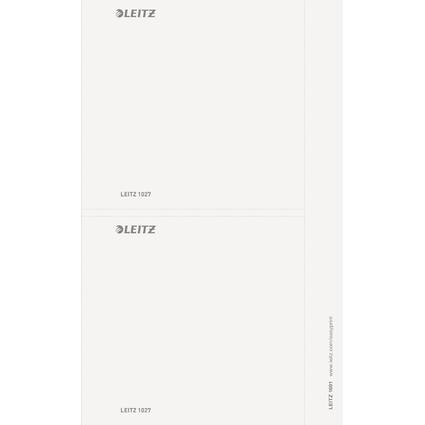 LEITZ Ordnerrücken-Einsteckschild, 156 x 146 mm, grau