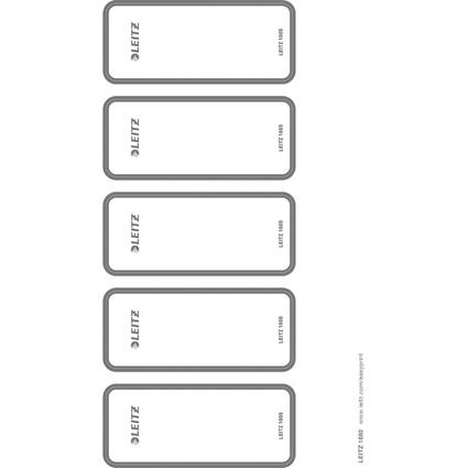 LEITZ Ordnerrücken-Etikett, 46 x 111 mm, kurz, breit, grau