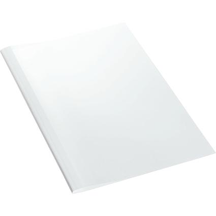LEITZ Thermobindemappe Leinenoptik, DIN A4, 3 mm, weiß