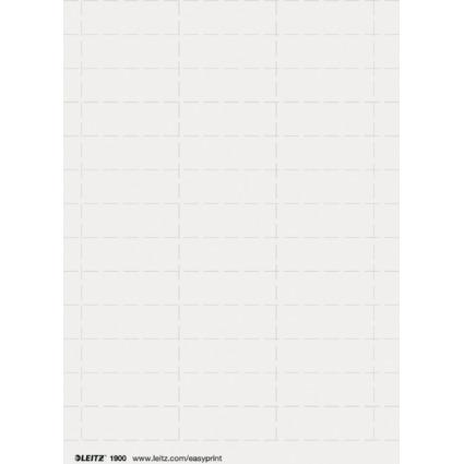 LEITZ Blanko-Beschriftungsschildchen, pc-beschriftbar, weiß