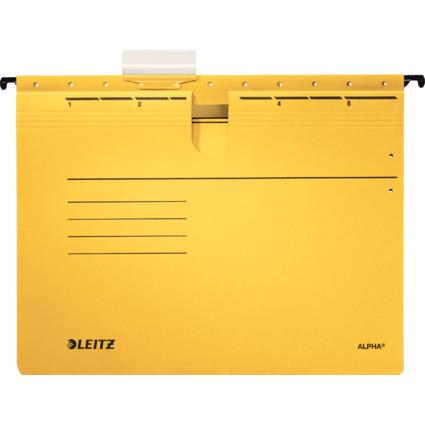 LEITZ ALPHA Hängehefter, A4, kaufmännische Heftung, gelb
