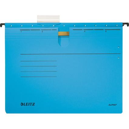 LEITZ ALPHA Hängehefter, A4, kaufmännische Heftung, blau