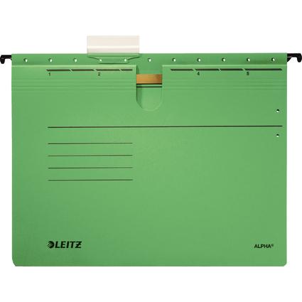 LEITZ ALPHA Hängehefter, A4, kaufmännische Heftung, grün