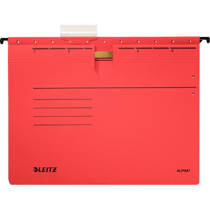 LEITZ ALPHA Hängehefter, A4, kaufmännische Heftung, rot
