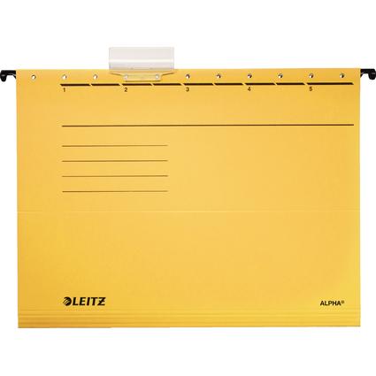 LEITZ ALPHA Hängemappe, A4, seitlich offen, gelb