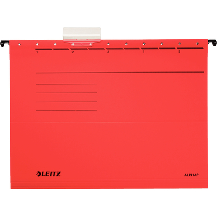 LEITZ ALPHA Hängemappe, A4, seitlich offen, rot