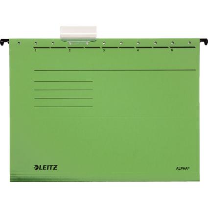 LEITZ ALPHA Hängemappe, A4, seitlich offen, grün