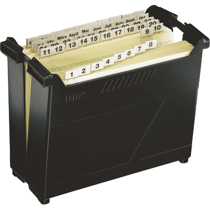LEITZ Hängeregistratur-Box Termin-Set, schwarz