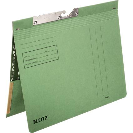 LEITZ Pendelhefter, mit Tasche, A4, grün