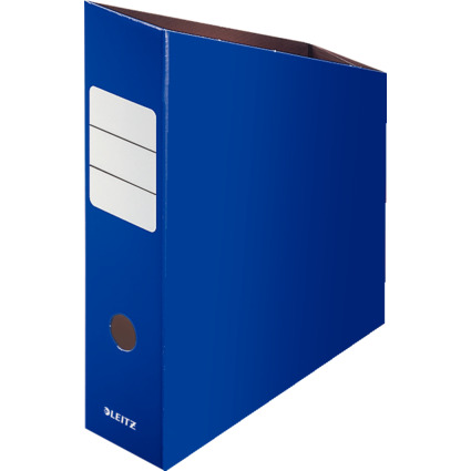 LEITZ Stehsammler, DIN A4, Feinwellpappe, blau