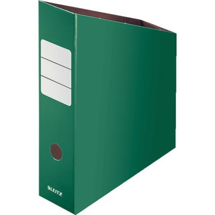 LEITZ Stehsammler, DIN A4, Feinwellpappe, grün
