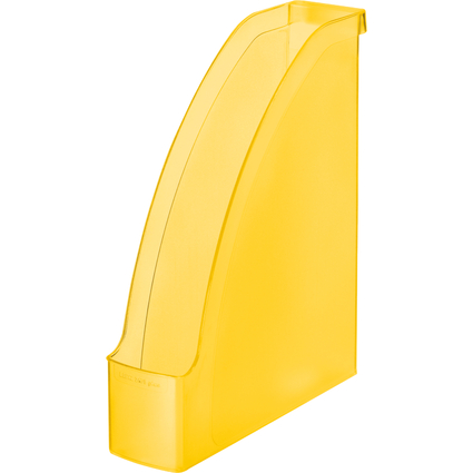 LEITZ Stehsammler Plus, DIN A4, Polystyrol, gelb frost