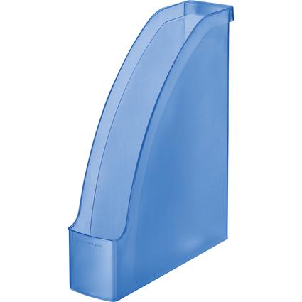 LEITZ Stehsammler Plus, DIN A4, Polystyrol, blau frost