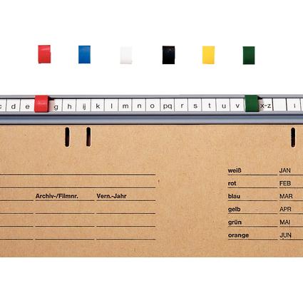 LEITZ Signale, aus Kunststoff, (B)6 x (H)9 mm, rot