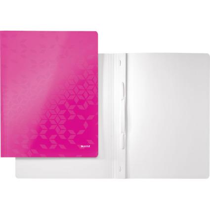 LEITZ Schnellhefter WOW, DIN A4, Karton, pink metallic