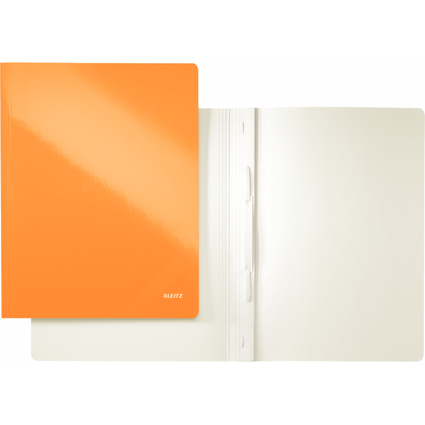 LEITZ Schnellhefter WOW, DIN A4, Karton, orange metallic