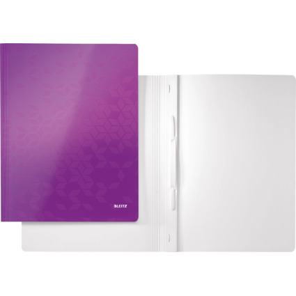 LEITZ Schnellhefter WOW, DIN A4, Karton, violett