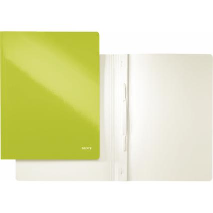 LEITZ Schnellhefter WOW, DIN A4, Karton, grün metallic