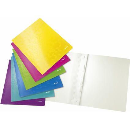 LEITZ Schnellhefter WOW, DIN A4, Karton, farbig sortiert
