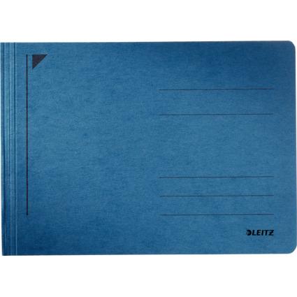 LEITZ Schnellhefter Rapid, DIN A5 quer, Manilakarton, blau