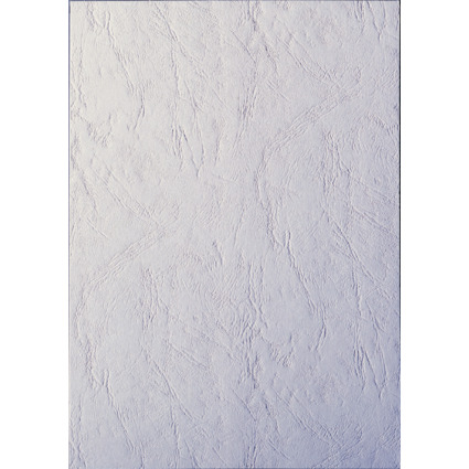 LEITZ Deckblatt, ledergenarbter Karton, DIN A4, weiß
