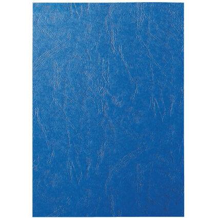 LEITZ Deckblatt, ledergenarbter Karton, DIN A4, blau