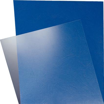 LEITZ Deckblatt, DIN A4, aus PVC, transparent, 0,25 mm