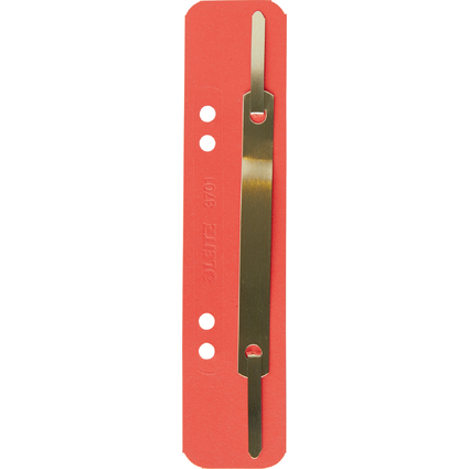 LEITZ Heftstreifen, 35 x 158 mm, Colorspankarton, rot