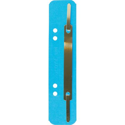 LEITZ Heftstreifen, 35 x 158 mm, Colorspankarton, blau
