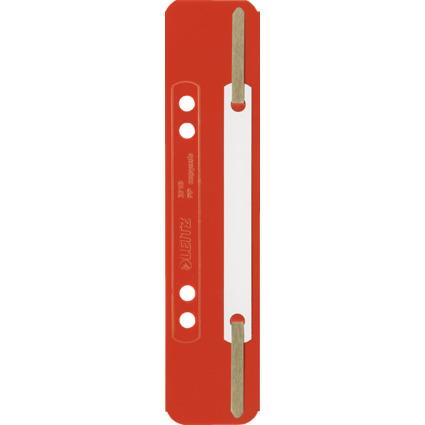 LEITZ Heftstreifen, 35 x 158 mm, PP-Folie, rot