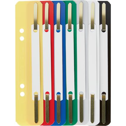 LEITZ Heftstreifen, 35 x 158 mm, PP-Folie, farbig sortiert