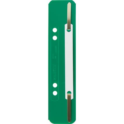 LEITZ Heftstreifen, 35 x 158 mm, PP-Folie, grün